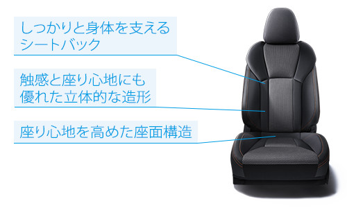 SUBARU XV 2.0i-S EyeSight フロントシート